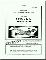 Lockheed F-80 A and RF-80 A Aircraft Flight Operating instructions  Manual,  AN. 01-75FJA-1, 1947