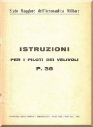 Lockheed P-38   Aircraft  Istruzione Per Piloti ( Italian language )    Manual, ,  ,1942
