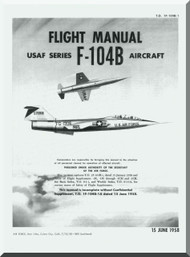 Lockheed F-104 B Aircraft Flight Manual - 1F-104B-1 - 1958