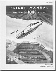 Lockheed F-104 C  Aircraft Flight  Manual,  T.O. 1F-104C-1,  1959
