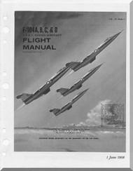 Lockheed F-104 A, B, C, & D  Aircraft Flight Manual,  T.O. 1F-104A-1,  1968