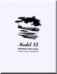 Lockheed L-12  Aircraft Maintenance Parts  Manual,