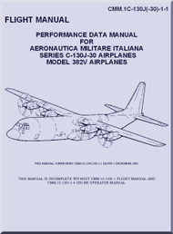 Lockheed C-130 J -30  Airplanes Model 382V  Aircraft  Perfomance Fight  Manual, CMM. 1C-130J-1-1