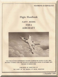 Grumman F11F-1 Flight Handbook   Manual AN  01-85FGG-150, 1960