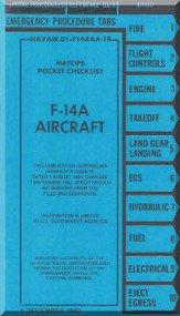 Grumman F-14 A Aircraft Checklist Manual - 01-F14AAA-1B - 1982