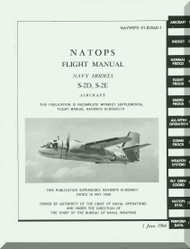 Grumman S2D S2E Aircraft Flight Manual - 01-85SAD-1 - 1966