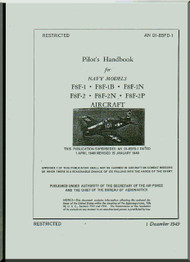 Grumman F8F-1N, 1B, -1N, -2, 2B,-2N-2P  Pilot's Handbook of Flight Operating Instruction Manual AN  01-85FD-1, 1949