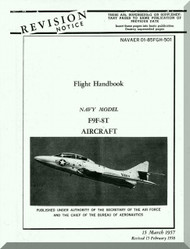 Grumman F9F-8T  Flight Handbook Manual NAVAER  01-85FGH-501, 1957
