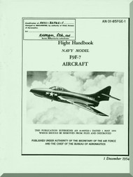 Grumman F9F -7 Aircraft Flight Manual - 01-85FGE-1 - 1954