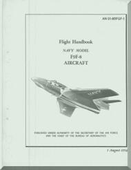 Grumman F9F-8  Flight Handbook Manual NAVAER  01-85GF-1, 1954