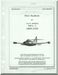 Grumman F9F-2, -3  Flight Handbook Manual NAVAER  01-85FGA-1, 1951