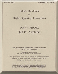 Grumman J2F-6  Pilot's Handbook of Flight Operating Instructions  Manual , NAVAER 01-220QA-1, 1945