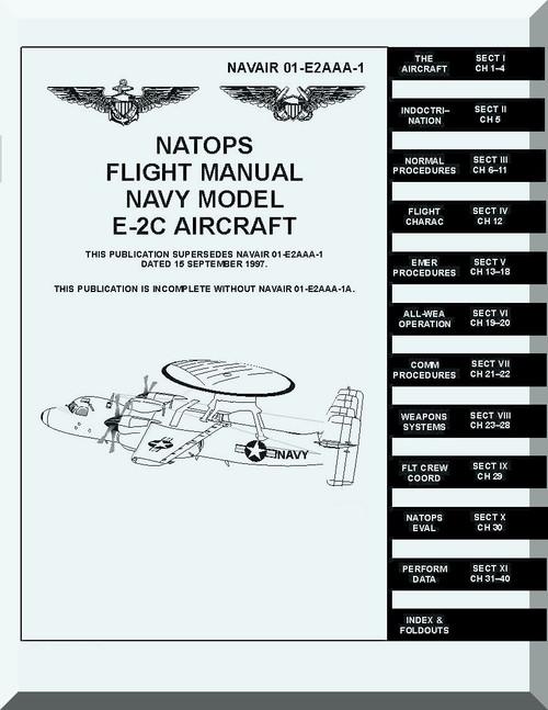Grumman E-2C NATOPS Flight Manual NAWEPS 01-E2AAA-1, 1979