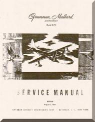 Grumman G-73  Mallard Amphibian Service  Manual , 1951