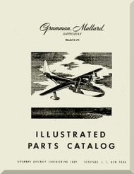 Grumman G-73  Mallard Amphibian Illustrated Parts Catalog  Manual , 1951