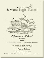 Grumman G-73  Mallard Amphibian flight  Manual , 1947