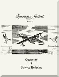 Grumman G-73  Mallard Amphibian Customer  & Service Bulletin  Manual , 1947