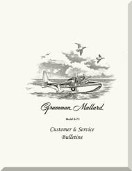 Grumman G-73  Mallard Amphibian Customer  & Service Bulletin  Manual , 1951