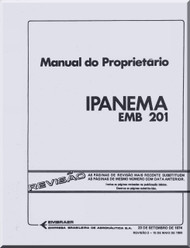 Embraer EMB-201 Ipanema Aircraft Flight Owner Manual ( Portuguese Language )