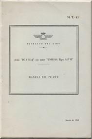 Huarte Mendicoa HM-1 Aircraft  Flight Manual Manual de Vuelo de Los Aviones del esercito dell Aire ( Spanish Lanuage )