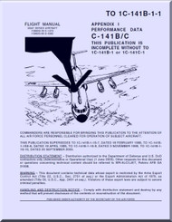 Lockheed C-141 B / C  Aircraft Flight Manual - Perfomance DATA TO 1C-141B-1-1