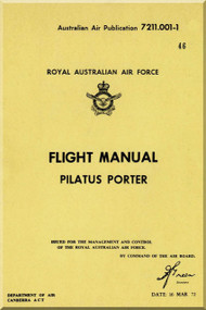 "Pilatus PC-6 "" Porter ""  Aircraft  Flight  Manual -  ( English Language )"