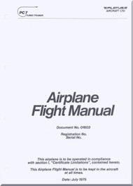 Pilatus PC-7  Aircraft  Flight  Manual -  ( English Language )