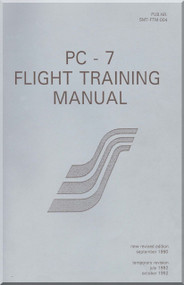 Pilatus PC-7  Aircraft  Flight Training  Manual -  ( English Language )