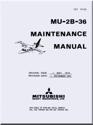 Misubishi MU-2B-36 Aircraft  Maintenance  Manual ( English  Language )