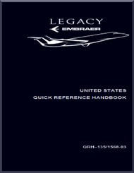 Embraer 135 BJ Legacy Aircraft Quick Reference Handbook  Manual