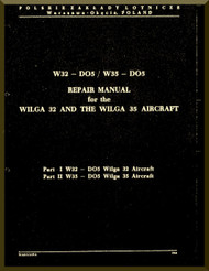 PZL 104 Wilga 32 and 35  Aircraft  Repair Manual -  ( English Language ) , 1981
