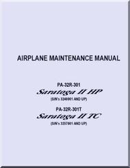 Piper Aircraft   Pa-32R-301 PA- 32R-301T  Saratoga  II HP II TC   Maintenance  Manual