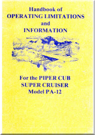 Piper Aircraft   Pa-12  Cub Super  Cruise Handbook Manual