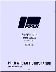 Piper Aircraft   Pa-18-150 Super  Cub  Parts Catalog Manual