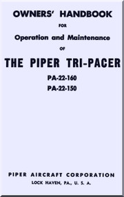 Piper Pa-22-150 Pa-22-160  Tri-Pacer Owner's Handbook  Manual