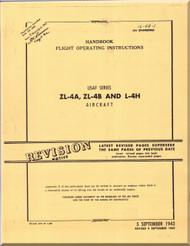 Piper Aircraft ZL4 A, ZL-4B and  L- 4H Handbook Flight Operating Instructions Manual AN 1L4A1,  1943