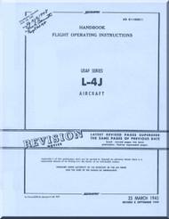 Piper Aircraft  L4 J Flight Operating Instructions Manual AN 01-140DC-1 ,  1945