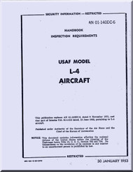 Piper Aircraft  L-4 Inspection Requirements Manual AN 01-140DC-6 ,  1953
