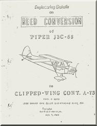 Piper Aircraft  J-3C-65  Reed Conversion  Manual