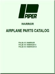 Piper Aircraft   Pa-28-151 - 161  Warrior II III   Aircraft Parts Catalog  Manual