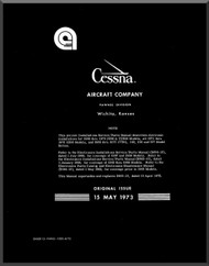 Cessna Aircraft Avionic Installation Service / Parts Catalog  Manual 1969 -1973