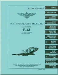 Mc Donnell Douglas  Aircraft F-4J Phantom II  Flight Manual - 01-245FDD-1