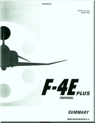 Mc Donnell Douglas  F4E Plus Aircraft  Phantom II Manual - Reports No. E523 -