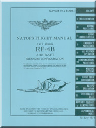 Mc Donnell Douglas  Aircraft RF-4B Phantom II  Flight Manual - 01-245FDC-1