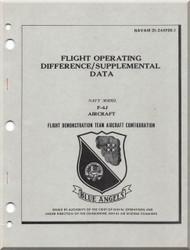 Mc Donnell Douglas  Aircraft F4-J Phantom II  Flight Operating  Manual - 01-245FDE-1