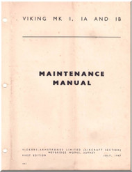 Vickers Viking Mk I Ia Ib Aircraft  Maintenance  Manual - 1947