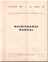 Vickers Viking Mk I Ia Ib Aircraft  Maintenance  Manual - 1947