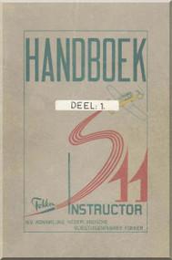 Fokker S-11  Aircraft  Handbook Manual -  ( Dutch Language ) - 1970