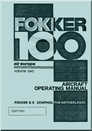 Fokker F-100  Aircraft Operating  Manual  Vol 2 - Air Europe