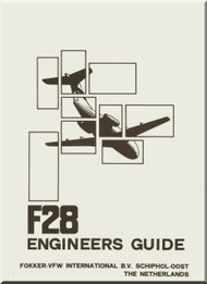 Fokker F-28  Aircraft Engineer Guide  Manual -  ( English Language ) , 1980
